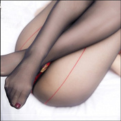 Red line behind the new black legs sexy nightclub sexy stockings female ultra-thin transparent black silk socks pantyhose vertical Contains Adult 15D