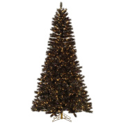 2m Pre-Lit Mardi Gras Tinsel Christmas Tree - Clear Dura Lit Lights