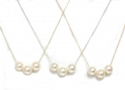 """Akoya Pearl Necklace 7.5 - 8 MM 14kt Rose, White Or Yellow Gold chain 16"""" or 18"""""""