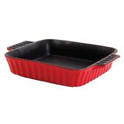 Crock Pot 114308.01RM Gibson Home Denhoff 20cm Square Casserole Dish, Red