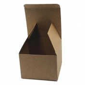 """3.1""""x3.1""""x2.4"""" (8*8*6cm) 20 Pieces Brown Kraft Paper Small Cardboard Pack Boxes Subminiature Lamps Chalk DIY Candle Paper Clips Candy Gift Boxes"""