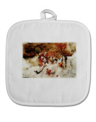 TooLoud CO Painted Mines Watercolour White Fabric Pot Holder Hot Pad