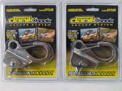 Danik-Hook Stainless Steel (2 Pack)- Easy to Use, Knotless Anchor System- Holds 3630kg with Quick Release.