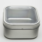 470ml Bravada Magnetic Square Spice and Food Storage Tin - Set of 4