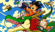 Dragonball Z Collage TCG playmat, gamemat 60cm wide 36cm tall for trading card game smooth cloth surface rubber base