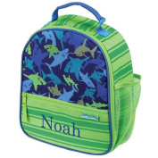 Personalised Shark Lunchbox, 23cm x 27cm x 10cm , insulated, multiple pockets