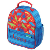 Personalised Dinosaur Lunch Bag, insulated, 23cm x 27cm x 10cm , multiple pockets