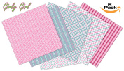 Craftopia's Girl Girl Pattern Self Adhesive Craft Vinyl Sheets | 6+1 Assorted Vinyl Pack for Cricut, Silhouette Cameo, Craft Cutters, Printers, Letters, Decals