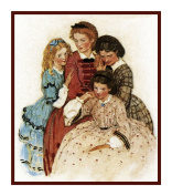 Little Women Sisters By Jessie Willcox Smith Counted Cross Stitch Pattern