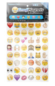 Emoji Magnets Pack of 96 Assorted Magnet Set Removable Perfect For Home, Lockers, Calendar, Office