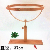 360 Degree Rotation Dia37cm Embroidery Hoop Wooden Embroidery Frames Cross Stitch Rack High Adjustable