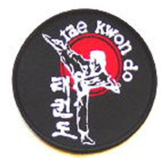 Round Tae Kwon Do Side Kick Patch