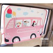 Car Sun Shade Curtain for Side Window for baby kids children - Car Sunshade Protector - Protect kids and pets from sun glare and heat. - Design Car Interior Sun Blocker Blind