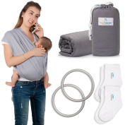 Wrap-Style Baby Carrier Sling from Sharon's Cute Ones. 2/P Baby Socks