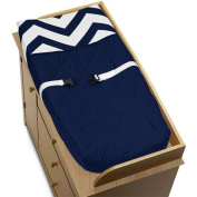 Zig Zag Navy and White Chevron Baby Changing Pad Cover