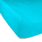 Luxe Basics Cover Comfy Contoured Changing Pad Cover, Turquoise, 90cm X 43cm