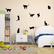 Ussore Cats Wall Stickers Art Decals Mural Wallpaper Decor DIY Decoration for Home living room bedroom bathroom kitchen