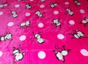 Girl's Dancing Monkey's Borrgeo Sherpa Plush Soft Mink Baby Child Blanket Throw