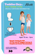 Pad & Pant System - 1/2 The Cost Of Pull-Ups. Toddler Dry Speeds Training By 50%.