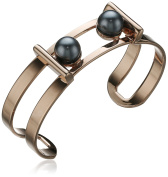 Ben-Amun Jewellery Modern Pearl Rose Gold-Plated Simulated Pearl Cuff Bracelet