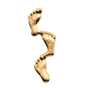 08.00x23.00 mm Footprints in The Sand Lapel Pin in 14K Yellow Gold