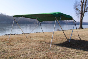 New Green Vortex Pontoon / Deck Boat 4 Bow Bimini Top 2.4m Long, 2.4m Wide 230cm - 240cm Wide, 140cm High, Complete Kit, Frame, Canopy, and Hardware. 1 TO 4 BUSINESS DAY DELIVERY)