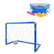 Kidcia Soccer Goals Set with Inflatable Soccer Ball and Air Bump for Kids Backyard Soccer Gate Toy Football Training Set - Small