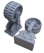 Brocraft Flip-up Dinghy Wheels, Inflatable Boat Launching Wheels