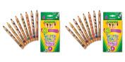Crayola Write Start Coloured Pencils,8 Pack, 2 Packs