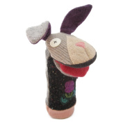 Cate and Levi 30cm Handmade Bashful Bunny Hand Puppet (Premium Reclaimed Wool), Colours Will Vary