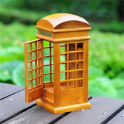 PhilMat Retro Wind-Up Telephone booth Music Box Castle In The Sky