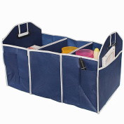 Medifier Multipurpose Foldable Car Cargo Storage Case Sturdy Storage - Foldaway Feature for Travel Vacation Camping Blue