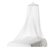 Yingwei Home White Bed Mosquito Netting Mesh Canopy Round Dome Bedding Net