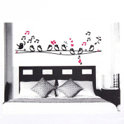 easyshop 50*70cm Flower Bird Tree Removable PVC Wall Stickers Wallpaper 2185