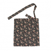 Baby Mum Breastfeeding Nursing Poncho Cover Up Udder Covers Blanket Shawl - Flower Black