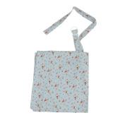 Baby Mum Breastfeeding Nursing Poncho Cover Up Udder Covers Blanket Shawl - Flower Blue