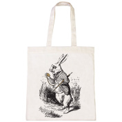 Batch1 Alice In Wonderland Through The Looking Glass White Rabbit Tote Shopper
