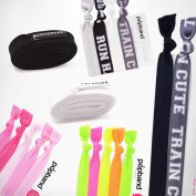 Popband Ponytail Holders, Headbands & Shoe Laces Collection, Gym Bag Essentials