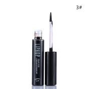 Liphop Long Lasting Waterproof Brown Black Peel Off Dye Eyebrow Gel 3#