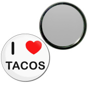 I Love Tacos - 55mm Round Compact Mirror