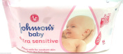 Johnson's Baby Wipes Gentle Cleansing Wipes Extra Sensitive Wipes 56 Wipes Pack