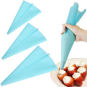 30cm Length Reusable Silicone Icing Piping Cream Pastry Bag Cake Decorating Tool