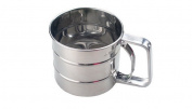 Kitchen Craft Stainless Steel Trigger Action Flour Sifter Cake Baking Kitchen Practical