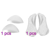 Pixnor Non-Slip Arch Support Cushions + Adhesive Gel Shoes Insoles for Flat Feet/Fallen Arches