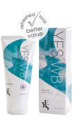 YES® WB Water Based Personal Lubricant Re-hydrating Lubrication Made With Organic Ingredients 100ml Tube