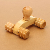 Ungfu Mall Wooden Car Roller Relaxing Massage Tool Reflexology Face Hand Foot Back Body Therapy