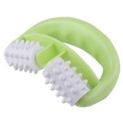 PIXNOR Body Massage Tool Mitt Roller Massager - Green