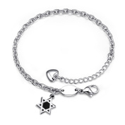 "66Ashley Jewellery Stainless Steel "" we will make sure of our love"" Link Chain Bracelet for Men /Women"