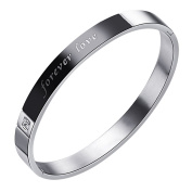 "Ashley Jewellery 316L Stainless Steel Mtaching Set Couple ""Forever Love"" Bangle Bracelet"