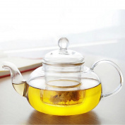 Siyaglass Glass Teapot With Infuser Coffee Heat Resistant Tea Pot Leaf Herbal Clear 800ml